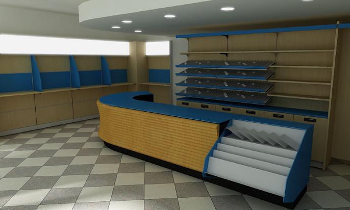 Progettazione for Arredamenti per tabaccherie